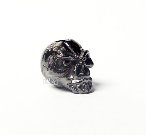 Schmuckatelli Bead Emerson Skull - Hematite Plated Matte Finish Jumbo