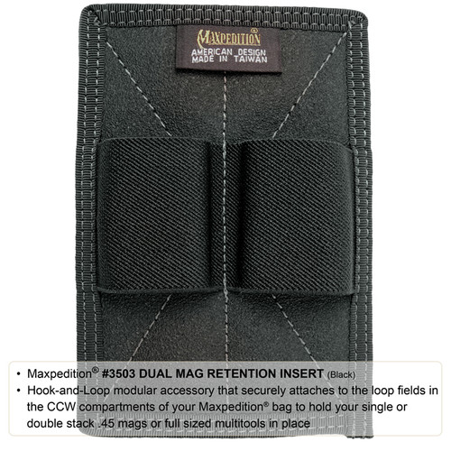 Maxpedition Dual Mag Pouch 3503B Black