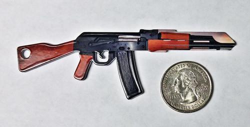 AK47 Machine Gun Kwikset Key Blank