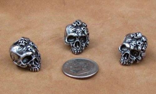 Schmuckatelli Bead Mind Skull - Pewter