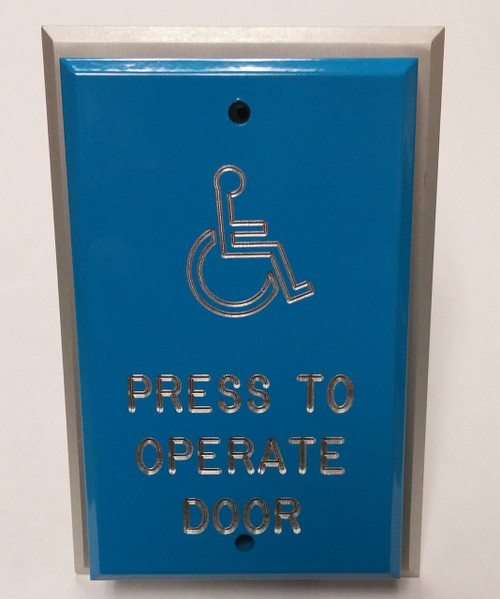 Deltrex Push Plate Release-Blue-Press To Operate
