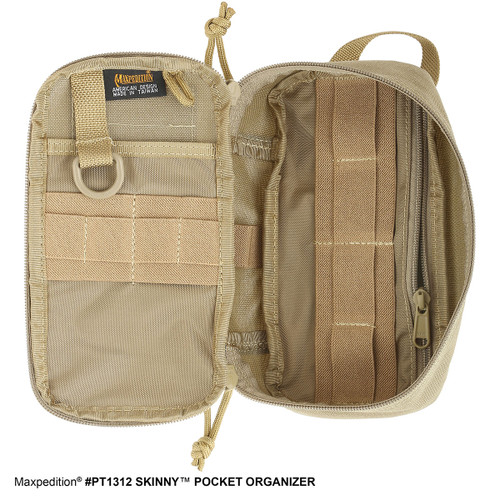 Inside view of Maxpedition 1312 shown in khaki.