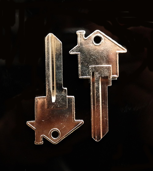 House Key Blank One Pair Kwikset