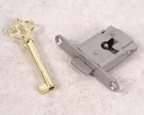 Full Mortise Drawer or Cabinet Lock Replacement w/key