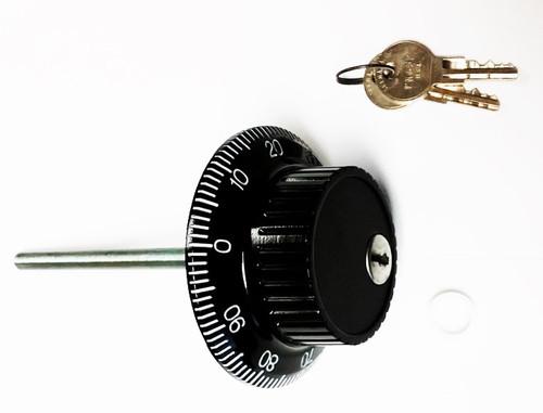 Ilco 670G01-98-41 Key Locking Dial, Black & White