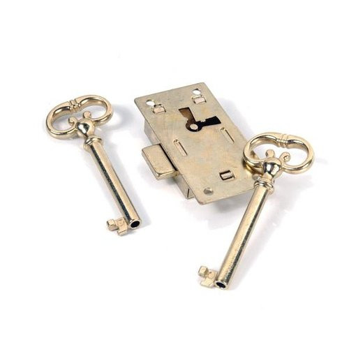 Restorers Classic Brass Plated Desk Lock 70016048