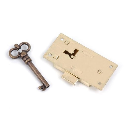 Brass Lock And Extra Key 02026305