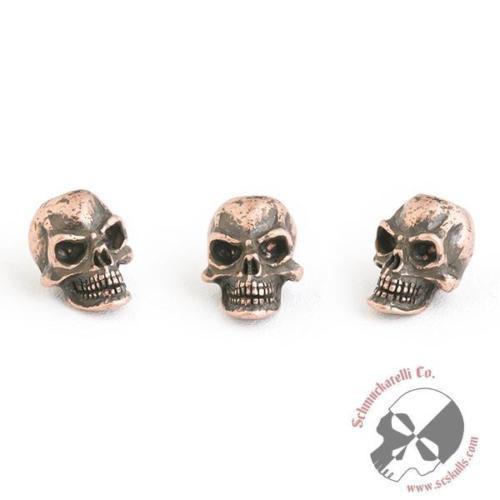 Knife Lanyard Bead Pro-Tech Skull Schmuckatelli Roman Copper Oxide