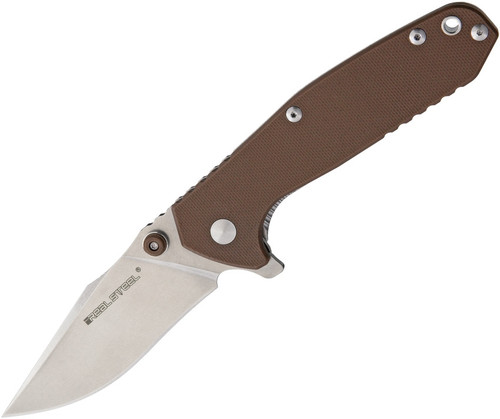 Real Steel Knives H5 Gerfalcon 7754 Brown G10 14C28N