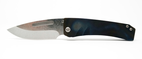 Medford Knife & Tool Midi Marauder Tumbled CPM S35VN Flamed Scales