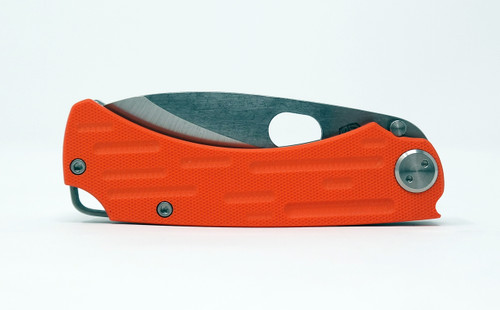 Medford Colonial G Drop Point Tumbled CPM 3V Orange G10