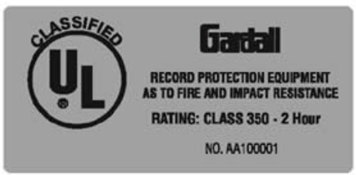 Gardall Fire Label