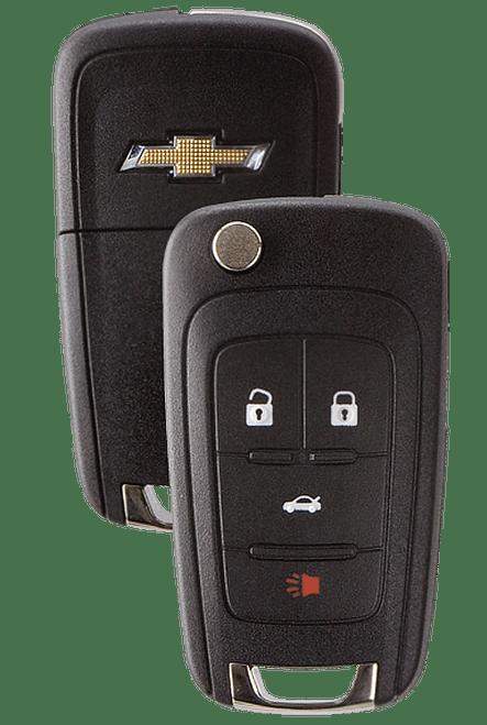 Strattec 5912543 Chevy Logo 4 Button Remote Flip Key