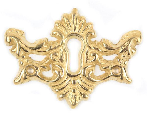 Cast Brass Victorian Keyhole Escutcheon