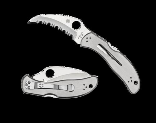 Spyderco C08S Harpy Hawkbill Serrated Stainless Knife