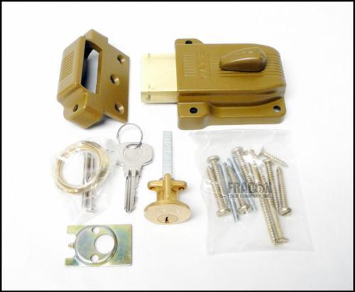 Yale 112 Heavy Duty Rim Lock Deadbolt Standard Angle Strike