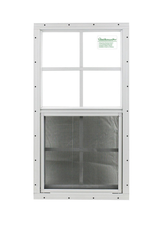 """14"""" x 27"""" White Flush Windows Play House, Tree House and Shed Window"""