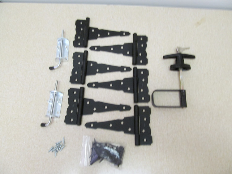 Colonial Hardware Kit with Heavy Duty Barrel Bolts