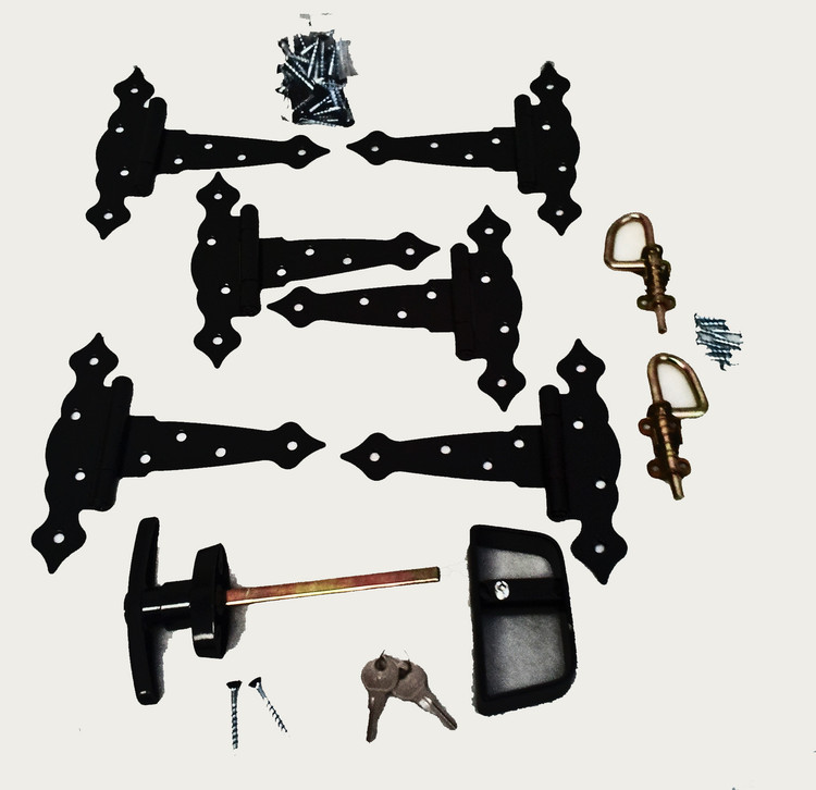 Decorative Hardware Kit with Loop Style Barrel Bolts