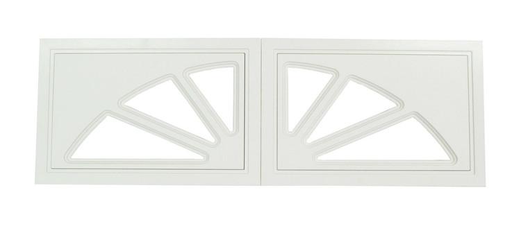 Garage Door Window 2 Panel Sunburst Design (1009)