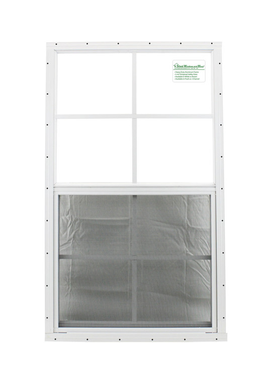 """21"""" x 36"""" White Flush Playhouse Window with Safety Glass"""