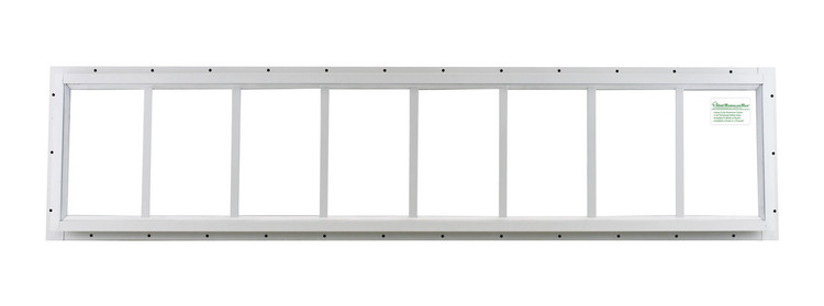 "10"" x 48"" White Flush Transom Window"