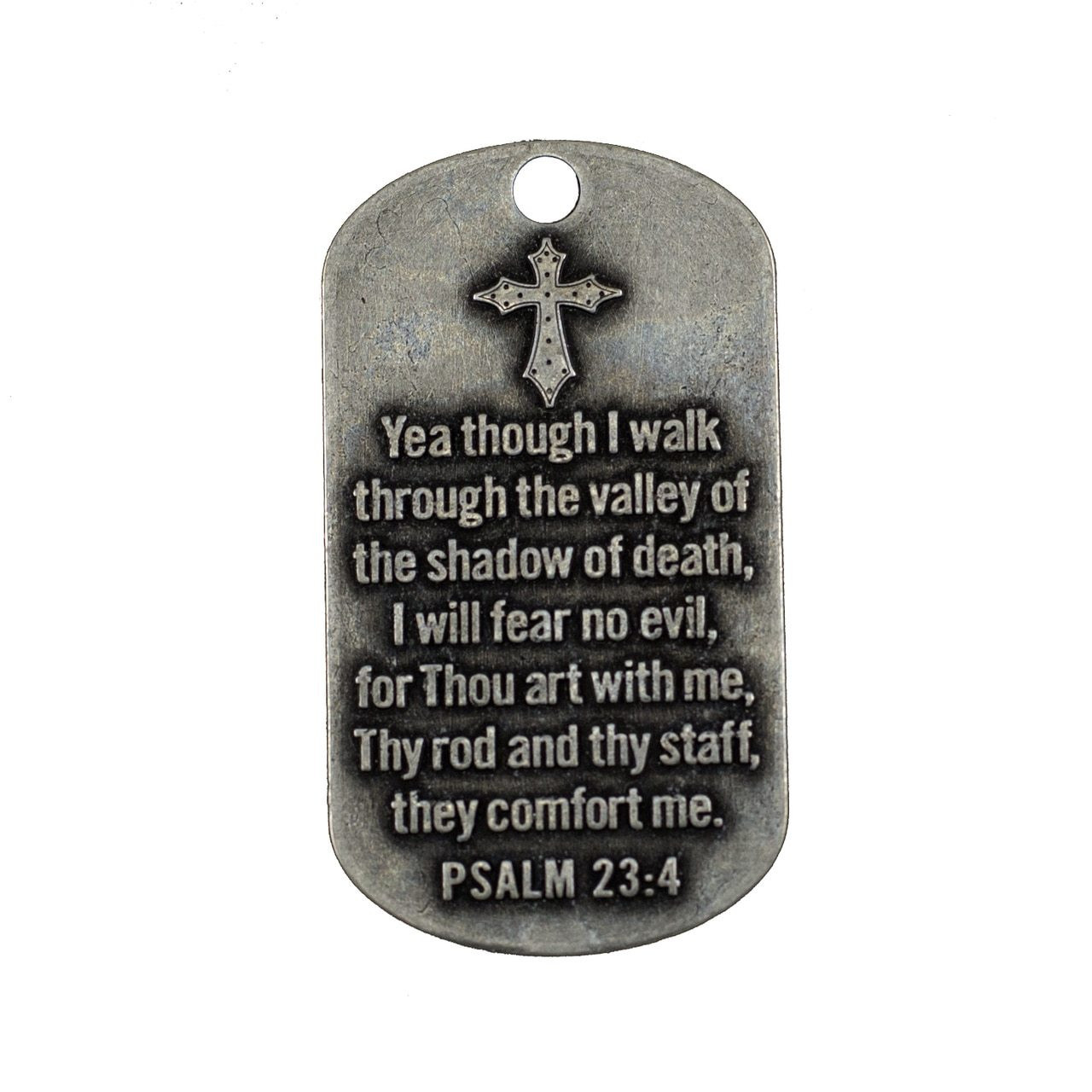 Antique Finish Dog Tag Necklace Ps 23 4 Engraved