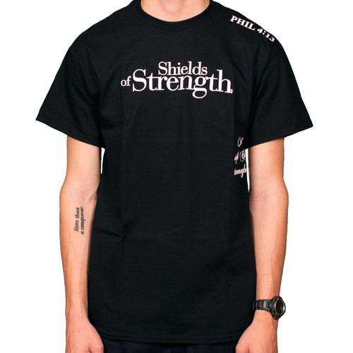 Black Short Sleeve Shirt-Phil 4:13