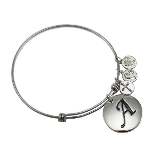 Faith grace stainless steel initial bracelet isaiah 43 for Stainless steel jewelry durability