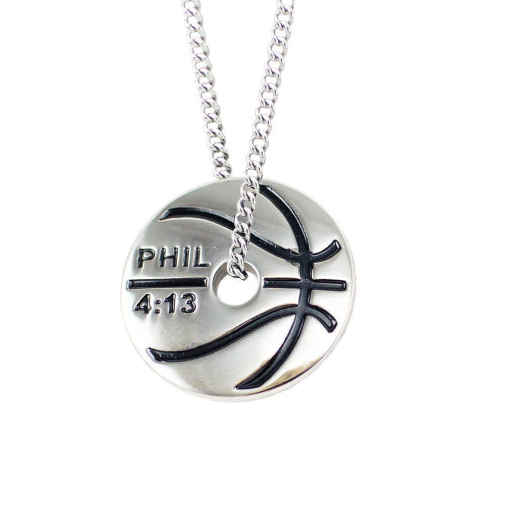 Basketball Chain Bible Verse Necklace Shields Of Strength