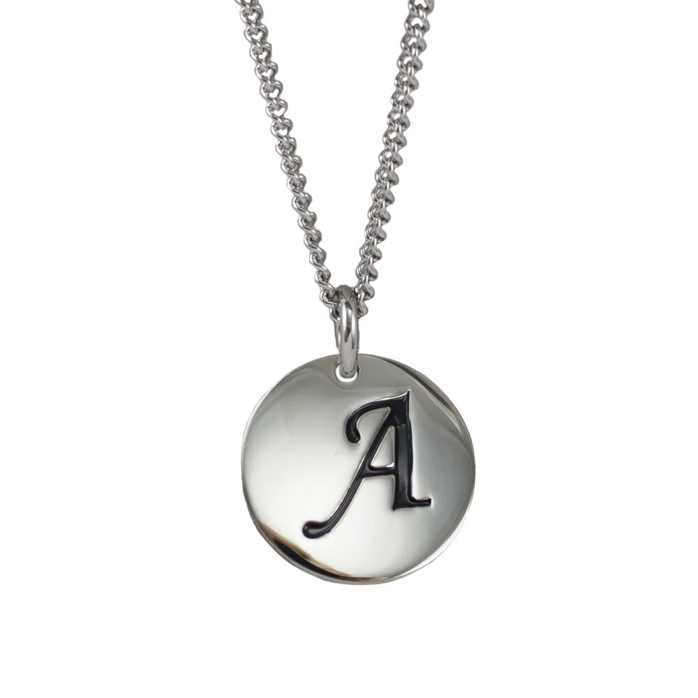 sterling a pendant script jewelry silver amazon ca cursive dp initial necklace