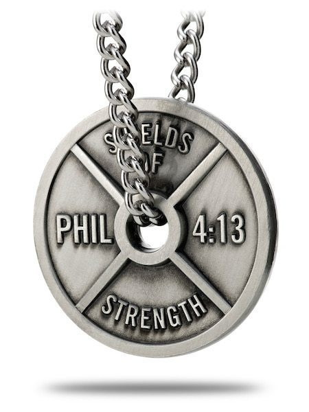 Weight Lifting Plate Necklace | Men's Phil 4:13 Necklace