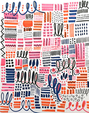 Untitled Pink, Orange & Blue