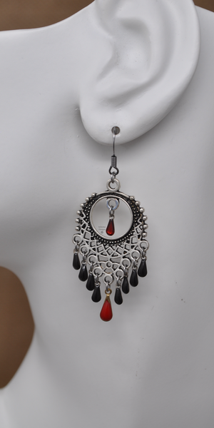 Blood Moon Earrings by Infinitus Designs