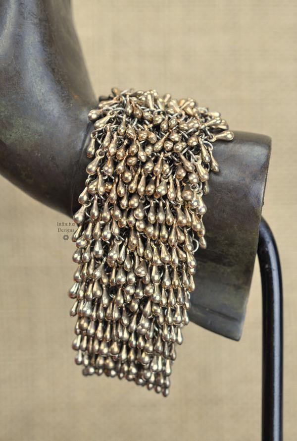 Rose Gold Rain Drop bracelet with 5-loop clasp, by Infinitus Designs