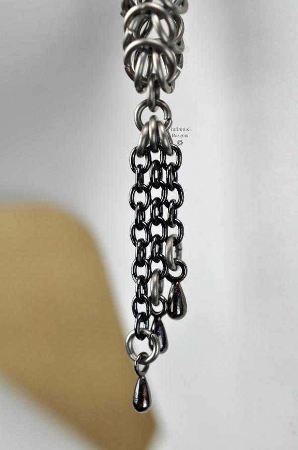 Gunmetal Squid Earrings, by Infinitus Designs