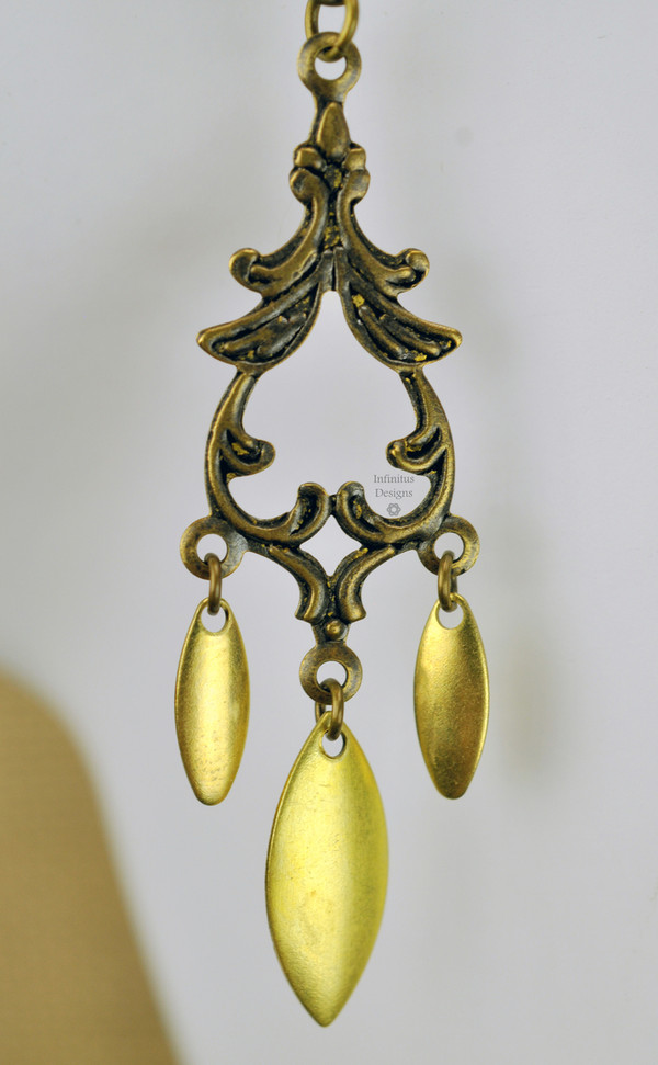 Brass Marquise Trio Earrings, by Infinitus Designs