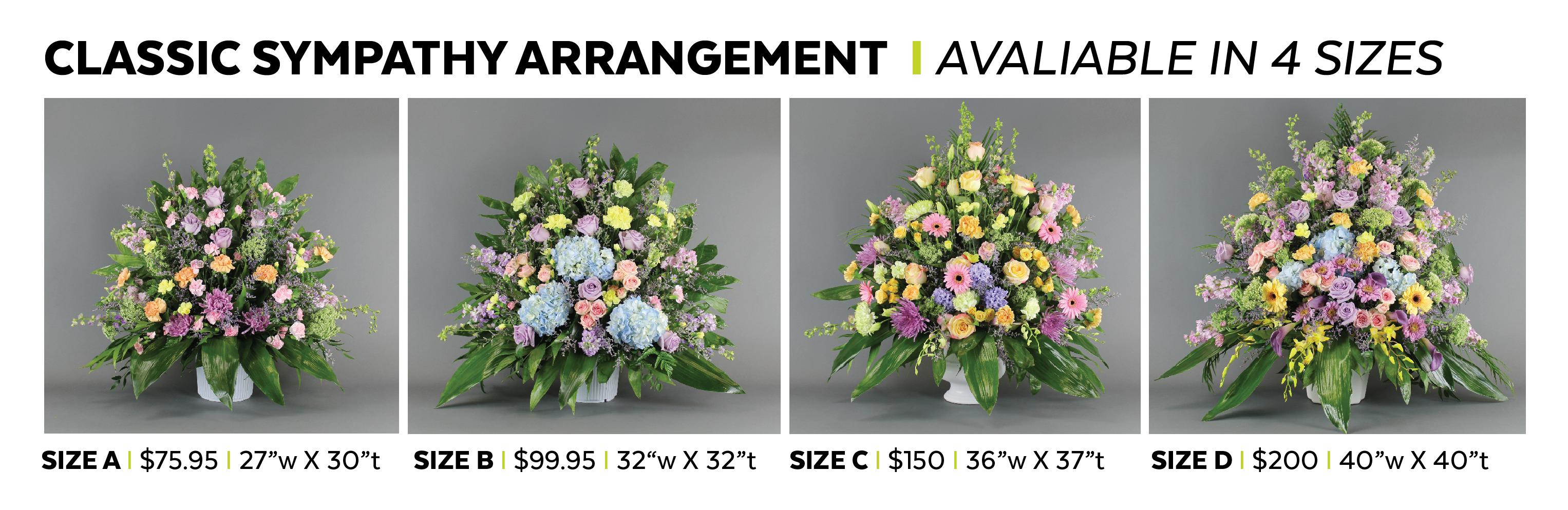 Classic sympathy arrangement field of flowers sympathy arrangement ountlined 01g izmirmasajfo
