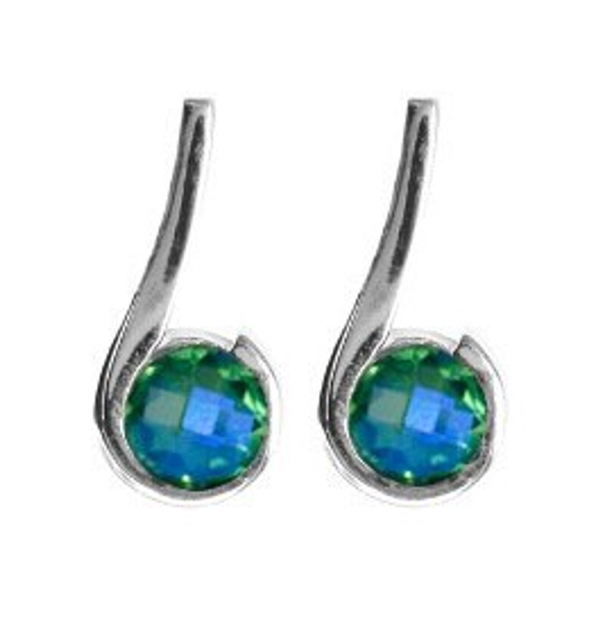 Siesta Key Watercolor Gemstone Tm Swirl Earrings Sk1715