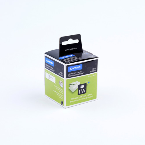 DYMO 99010 / S0722370 LABELWRITER STANDARD ADDRESS WHITE PAPER LABELS 28 X 89MM