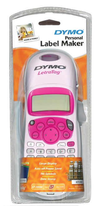Dymo LetraTag LT100-H Handheld Personal Labeling Machine / Label Maker In Pink NBCF