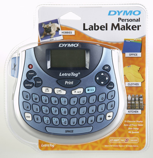 Dymo Letratag LT100-T Tabletop Personal Labeling Machine / Label Maker In Blue