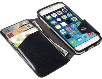 iPhone 6 FlipWallet Case Krusell Kalmar Black