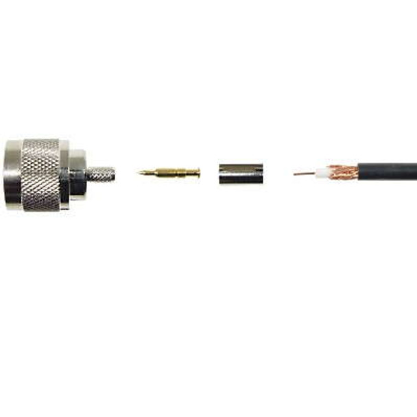 Wilson 971116 N Male Crimp-On Connector for RG-58