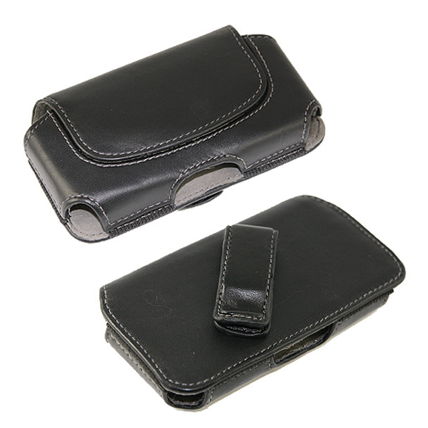 C5 Leather Pouch Horizontal X-L #6 Black
