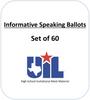 Informative Speaking Ballots (Set of 60)