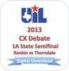 2013 CX Debate 1A Semifinal #1