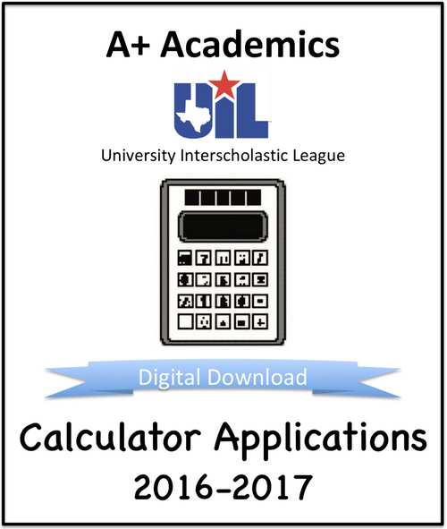 A+ Calculator Tests from 2016-17