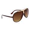 Wholesale Aviators by the Dozen - Style # 27515 Brown