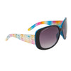 Women's Fashion Sunglasses DE81 Rainbow Patterned w/Blue Interior Frame